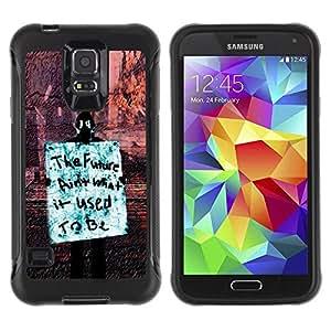 Suave TPU Caso Carcasa de Caucho Funda para Samsung Galaxy S5 SM-G900 / Future Freedom Occupy Revolution Rights Sign / STRONG