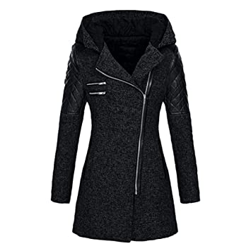 Sunward Womens Winter Warm Slim Zipper Hooded Coat Jacket Thick Parka Overcoat Outwear Hooded Coats (