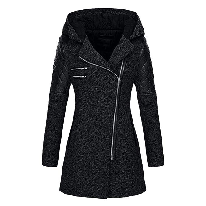 AMUSTER Inverno Autunno Donna Elegante Cerimonia Fashion Casual Donna Giacca  Slim Caldo Parka Spessore Cappotto Inverno 24466d7dee9