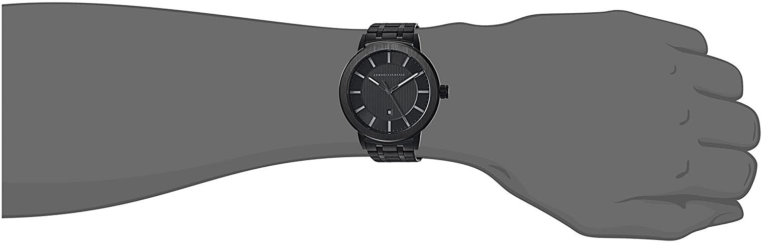 Amazon.com: Armani Exchange Mens Street Black Watch AX1457: Armani Exchange: Watches