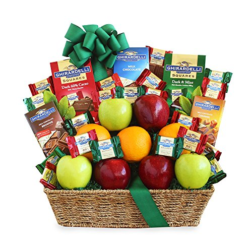 California Delicious Fruit and Ghirardelli Classic Gift Basket by California Delicious (Image #1)