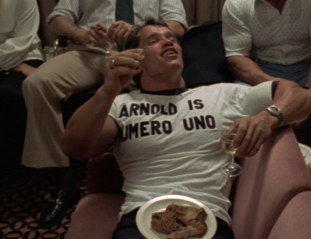 Mens Workout Shirt Arnold Is Numero Uno TShirt arnold schwarzenegger pumping iron golds gym exercise