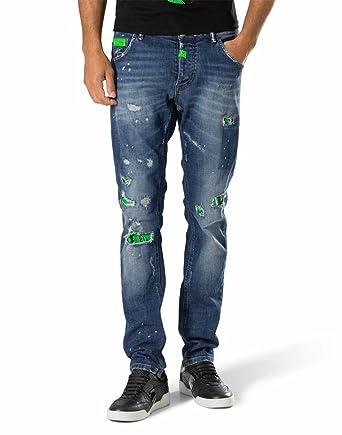 392a22e4b8a Philipp Plein Jeans - Homme Bleu Bleu  Amazon.fr  Vêtements et ...