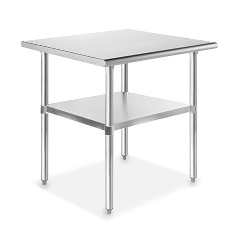 Amazon.com: Gridmann NSF Mesa de cocina comercial para ...