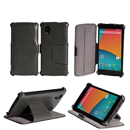 detailed look 93adb a6809 AceAbove Google Nexus 5 Case Slim [Gray] Protective Stand Case for Nexus 5