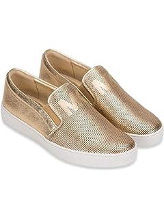 e7e66c8143af Michael Michael Kors Womens Keaton Leather Hight Top Slip On Fashion  Sneakers