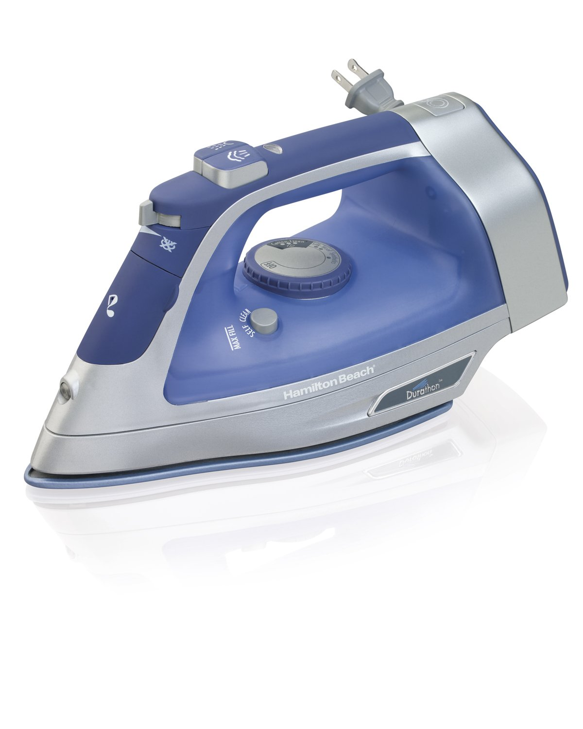 Hamilton Beach 19803 Durathon Full Size Iron with Retractable Cord, Blue