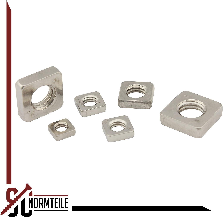 - Einlegemutter niedrige Form - DIN 562 V2A - M2 - Edelstahl A2 200 St/ück Vierkantmuttern SC562 SC-Normteile/®