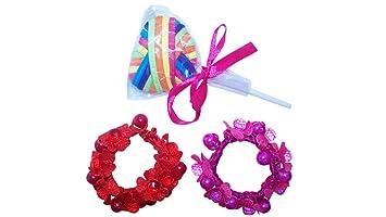 18 Lollipop and Flower Beaded Elastic Hair Tie Ponytail Holders 0217b60024f