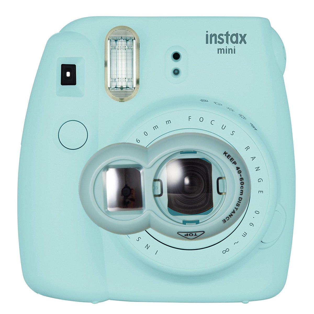 CAIUL Compatible Mini 9 Close Up Selfie Lens with Self-Portrait Mirror for Fujifilm Instax Mini 9 8 8+ 7s, Polaroid 300 Camera (Ice Blue)