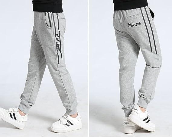 Dianshao Pantalon Largo De Chandal Para Nino Cintura Elastico Impreso Casual Pantalones Lookool Ro