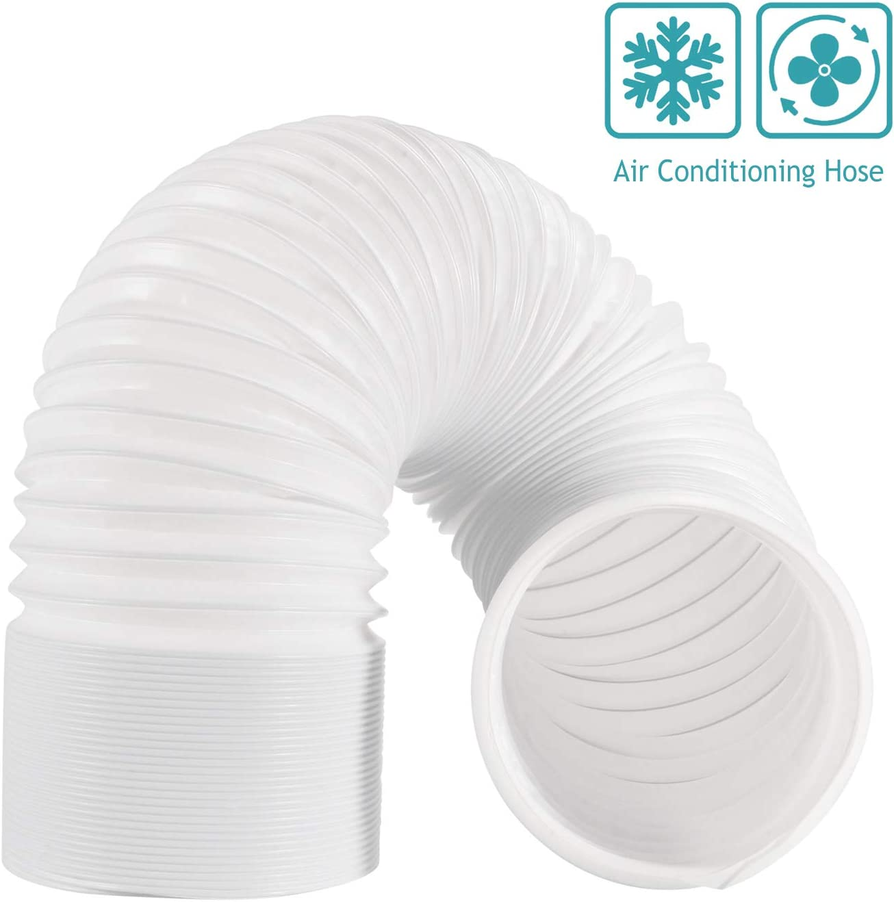 HG POWER Air Conditioner Hose, 79 Inch Long Intake/Exhaust Hose Flexible Ducting Counter Clockwise Room Air Conditioner AC Vent Replacement Tube Air Hose for Portable Air Conditioner (4 INCH-2M)