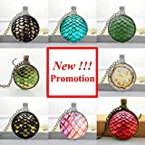 Pretty Lee 2015 New Fashion Glass Photo Pendant Necklace Dragon Egg Pendant Game Of Thrones Jewelry Glass Dome Necklace