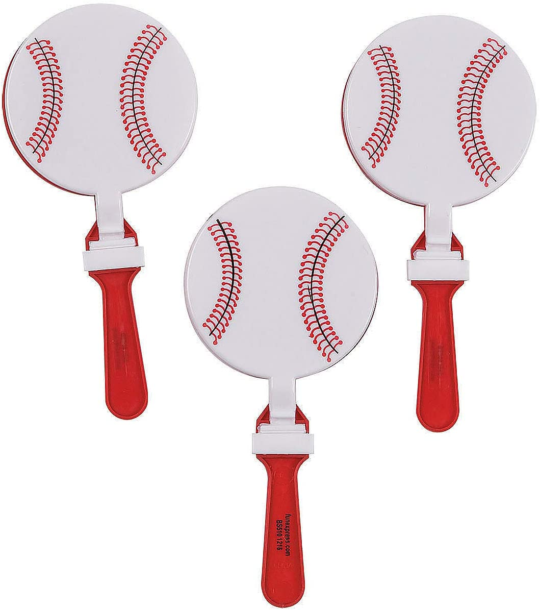 Baseball Clappers Baseball Party Favors - Sports Noisemakers - 12 pack: Toys & Games