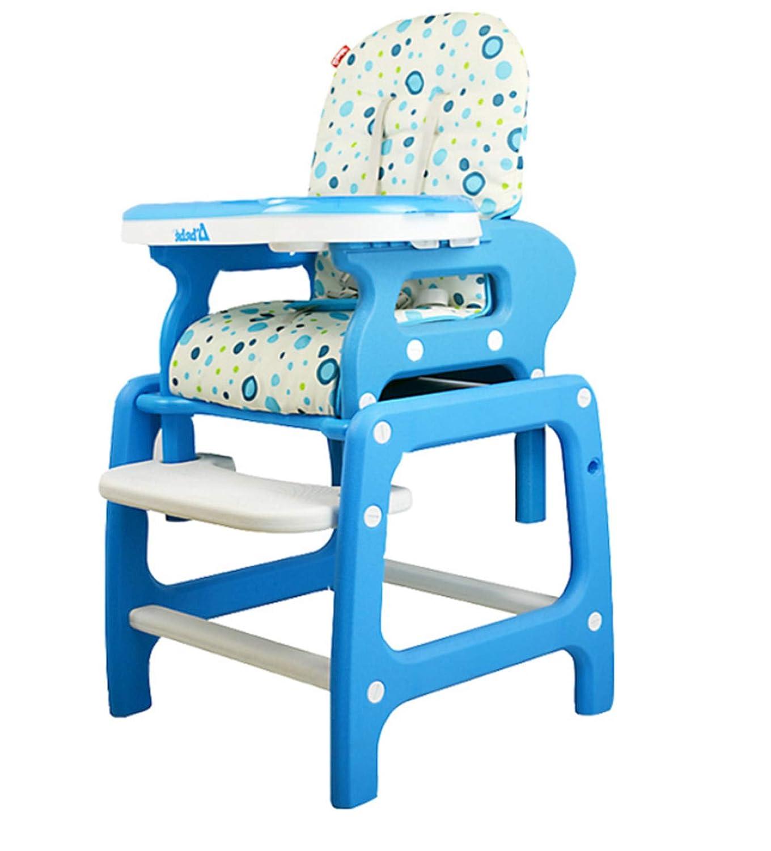 3 in1幼児幼児赤ちゃんハイチェアポータブルクッションプレイテーブルコンバーチブル食べる送りブースター折りたたみ調節可能な座席 Blue  Blue B07TJWCL82