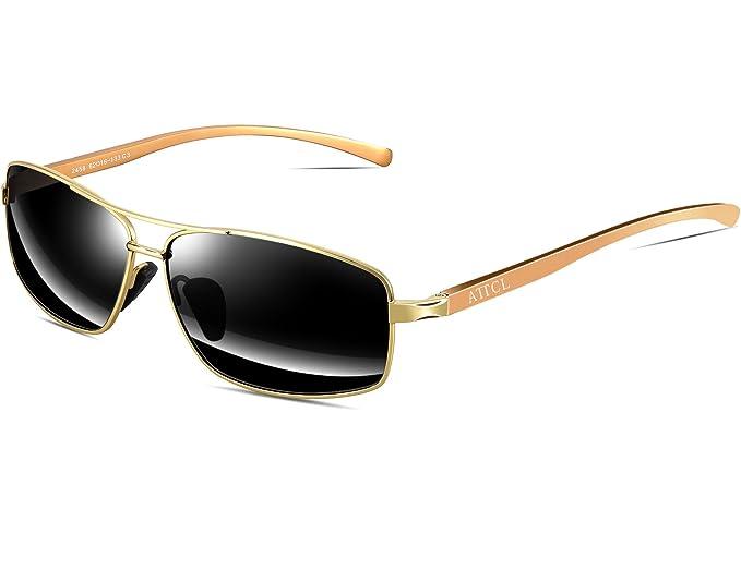 Amazon.com: ATTCL - Gafas de sol para hombre, rectangulares ...