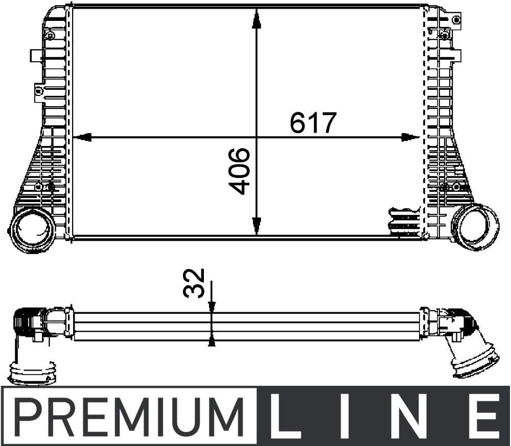MAHLE CI 83 000P Ladeluftk/ühler BEHR PREMIUM LINE
