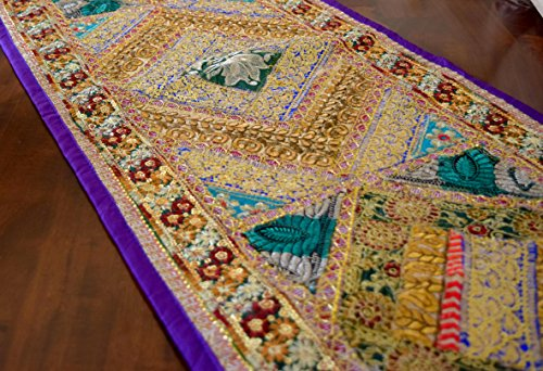 Decorative runner Patchwork Indian Purple product image