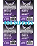 Mayday Games 7040 Clear Sleeves 56x87mm Standard USA Game Size (4x100 Pack, 400 sleeves)