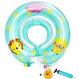 ベビー用 浮き輪 お風呂 うきわ首リング 赤ちゃんのトレーニングに 調節ベルト付き(Lサイズ, ブルー)
