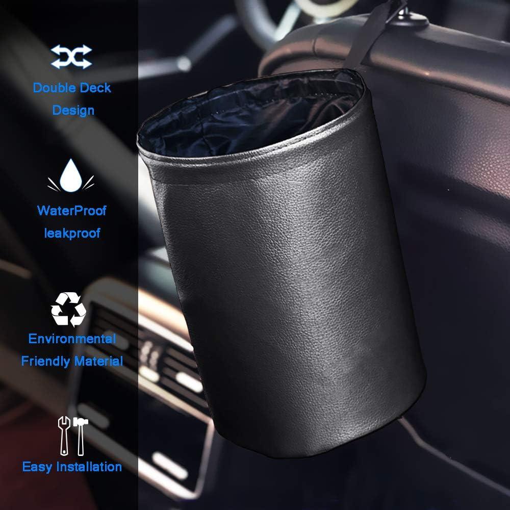 Furgonetas y Camiones ZATOOTO Papelera para Coche Plegable Port/átil de Basura del//Cubo Basurero Colgando Bolsa Auto Interior Accesorio por SUV