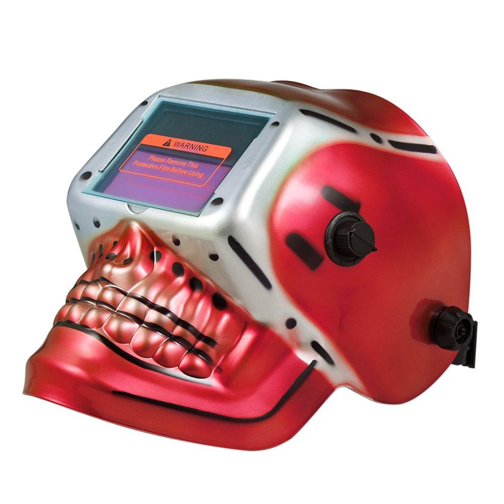 KKmoon Industrial Welding Helmet Solar Power Auto Darkening Welding Helmet Tig MIG Mask Skull Skeleton Design