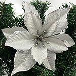 Zabrina-12-Pcs-511-in-Christmas-Tree-Decorative-Silk-Flower-Gold-Poinsettia-Bush-and-Red-Poinsettia-Bush-Artificial-Flowers-Red-Glitter-Poinsettia-Christmas-Tree-Ornaments-Sliver