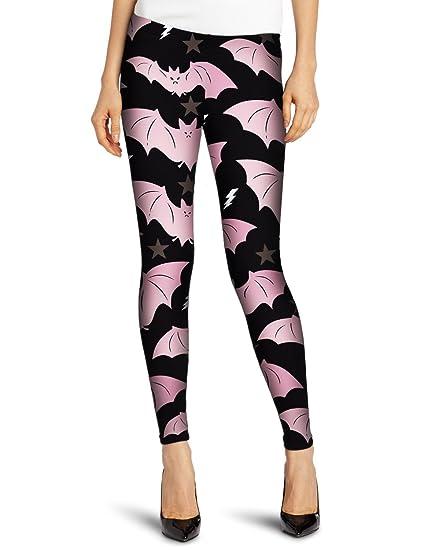 8679baea913 HOFISH Women Stretch Luxury Red Bat Star Print Leggings Pants at Amazon Women s  Clothing store