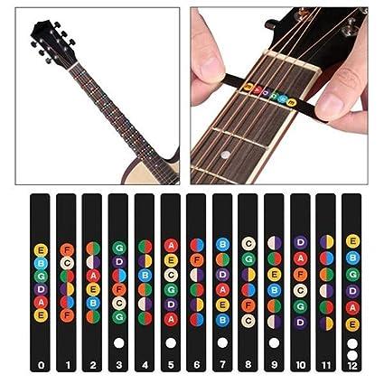 NBDPF Diapasón de Guitarra Nota diapasón Etiquetas Pegatinas Mapa Pegatina para Principiantes/Aprendizaje