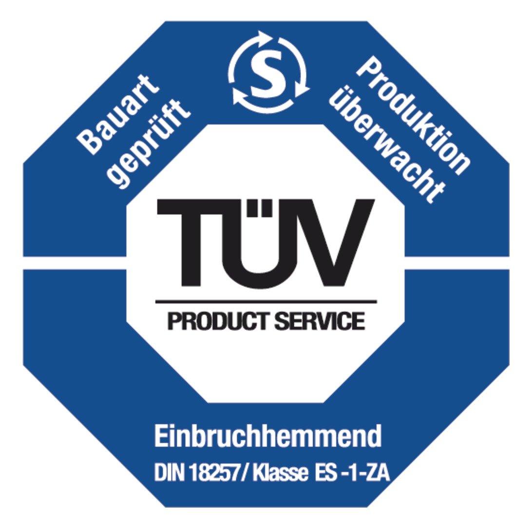ABUS T/ür-Schutzbeschlag HLZS814 F2 neusilber mit Zylinderschutz eckig 08418