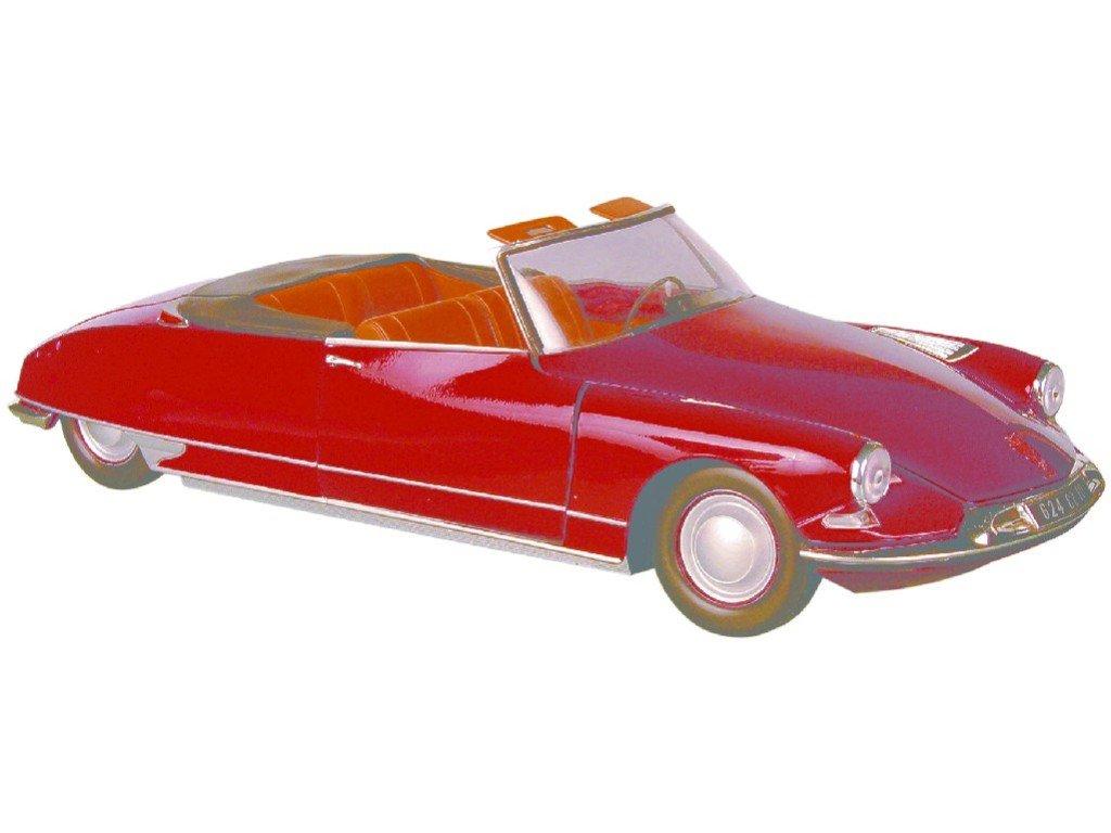 Norev 1/18 Scale Diecast - 181561 Citroen DS 19 Cabriolet Dark Red B0013B6E8W