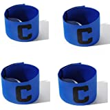 Wendy Mall 4Pcs Colorful Football Soccer Player Sport Flexible Sports Adjustable Bands Captain Armband for Kids