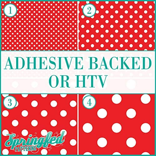 Red & White POLKA DOTS PATTERN 1 Basic Colors Heat Transfer or Adhesive Vinyl CHOOSE YOUR MATERIAL and POLKA DOT SIZE / Red & White POLKA DOTS PATTERN 1 Basic Colors Heat Transfer or Adhesive Vinyl CHOOSE YOUR MATERIAL and POLKA DO...