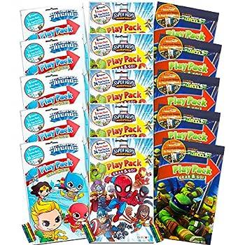 Amazon.com: Superhero Party Favor Packs Super Set ~ Paquete ...