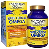 Renew Life Norwegian Gold The Advanced Fish Oils Super Critical Omega Orange Flavor 1200 mg 30 Enteric-Coated Softgels, Shaker Bottle assorted colors 20 oz