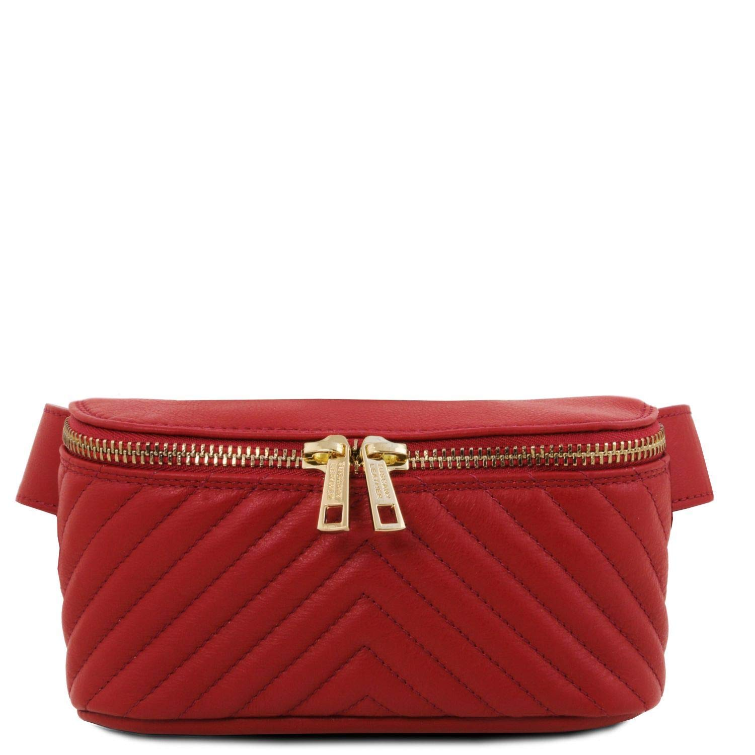 Tuscany Leather TLBag Soft leather fanny pack Red