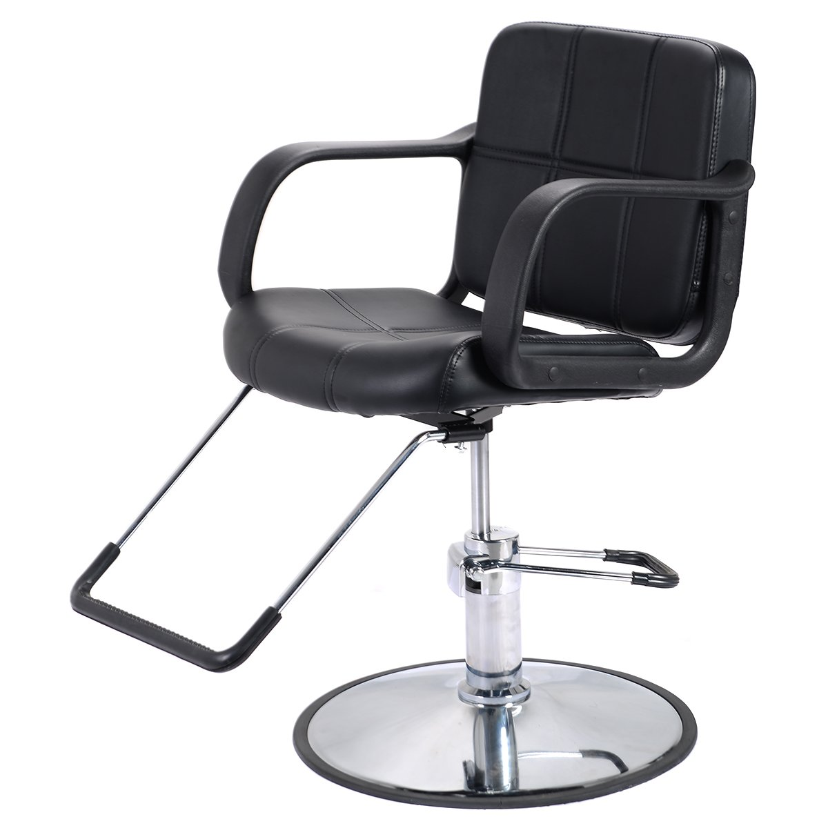 Costway Hydraulic Barber Chair Classic/Reclining 2 Types Available Salon Spa Shaving Tattoo Haircut Hairdressing Styling Equipment 360 Degree Swivel Black (C)