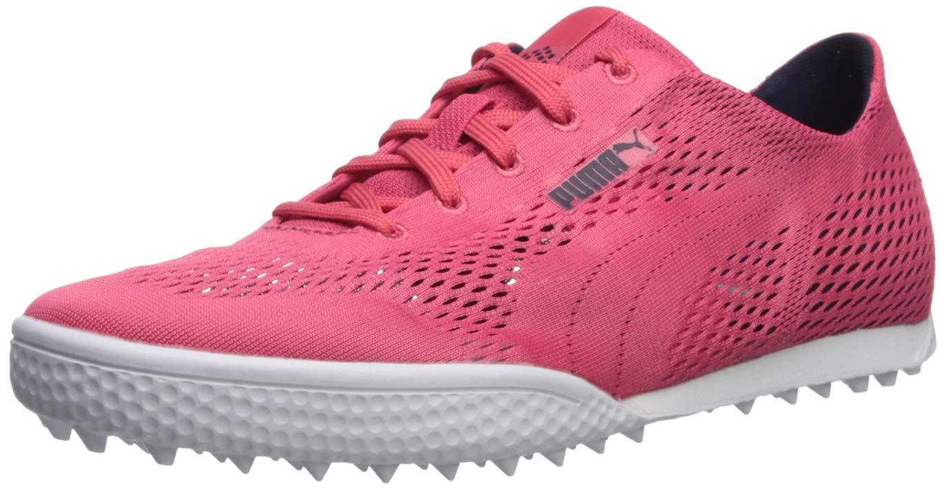 PUMA Golf Women's Monolite Cat Woven Golf Shoe, Paradise Pink, 6.5 Medium US
