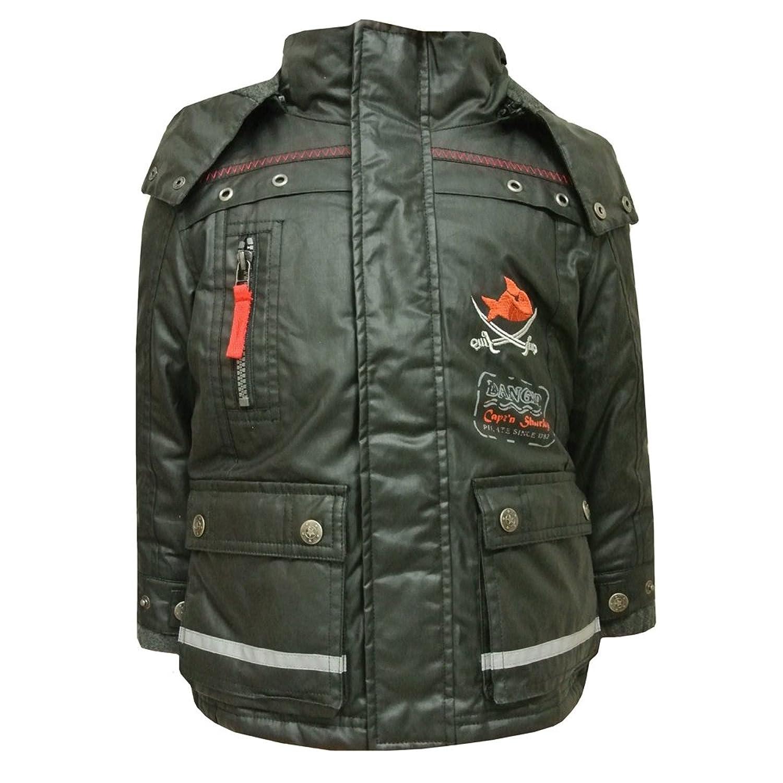Mottom - Boys Capt'n Sharky Jacket Winter Jacket Anorak, black - 602771