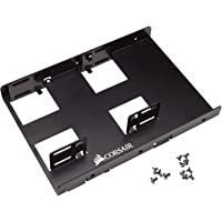 "Corsair CSSD-BRKT2 unidad panel de bahía 8.89 cm (3.5"") Carrier panel Negro - Drive bay panel (8.89 cm (3.5""), Carrier panel, 2.5"", Negro, Aluminio, 101.6 mm)"