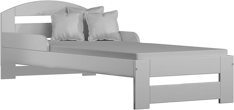 Kiko Senza Materasso e Senza cassetti Childrens Beds Home Letto Singolo in Legno massello 140x70 - Senza cassetti - Senza Materasso, Bianco