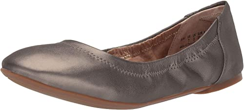 Amazon Essentials Women's Ballet Flat, Dark Bronze, 5 B US best women's dressy flats