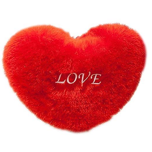rryilong Rojo Amor corazón Forma Jeter Almohada Letras ...