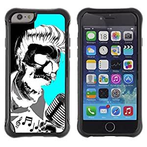 BullDog Case@ Elvis Music Rock Roll Microphone Skull Rugged Hybrid Armor Slim Protection Case Cover Shell For iphone 6 6S CASE Cover ,iphone 6 4.7 case,iphone 6 cover ,Cases for iphone 6S 4.7