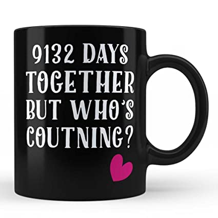 25th Wedding Anniversary Gifts Mug For Wife Husband Wifey Girlfriend Boyfriend Life Partner Gift