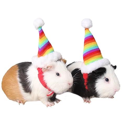 ZuckerTi Hut Mütze für Feiertag Halloween Weihnachts Weihnachten Geburtstag Kostüm für Katze Katzen Hunde Welpe Hamster Ratte