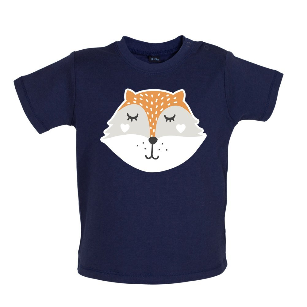Baby//Toddler T-Shirt 3-24 Months Smiley Face Mrs Fox