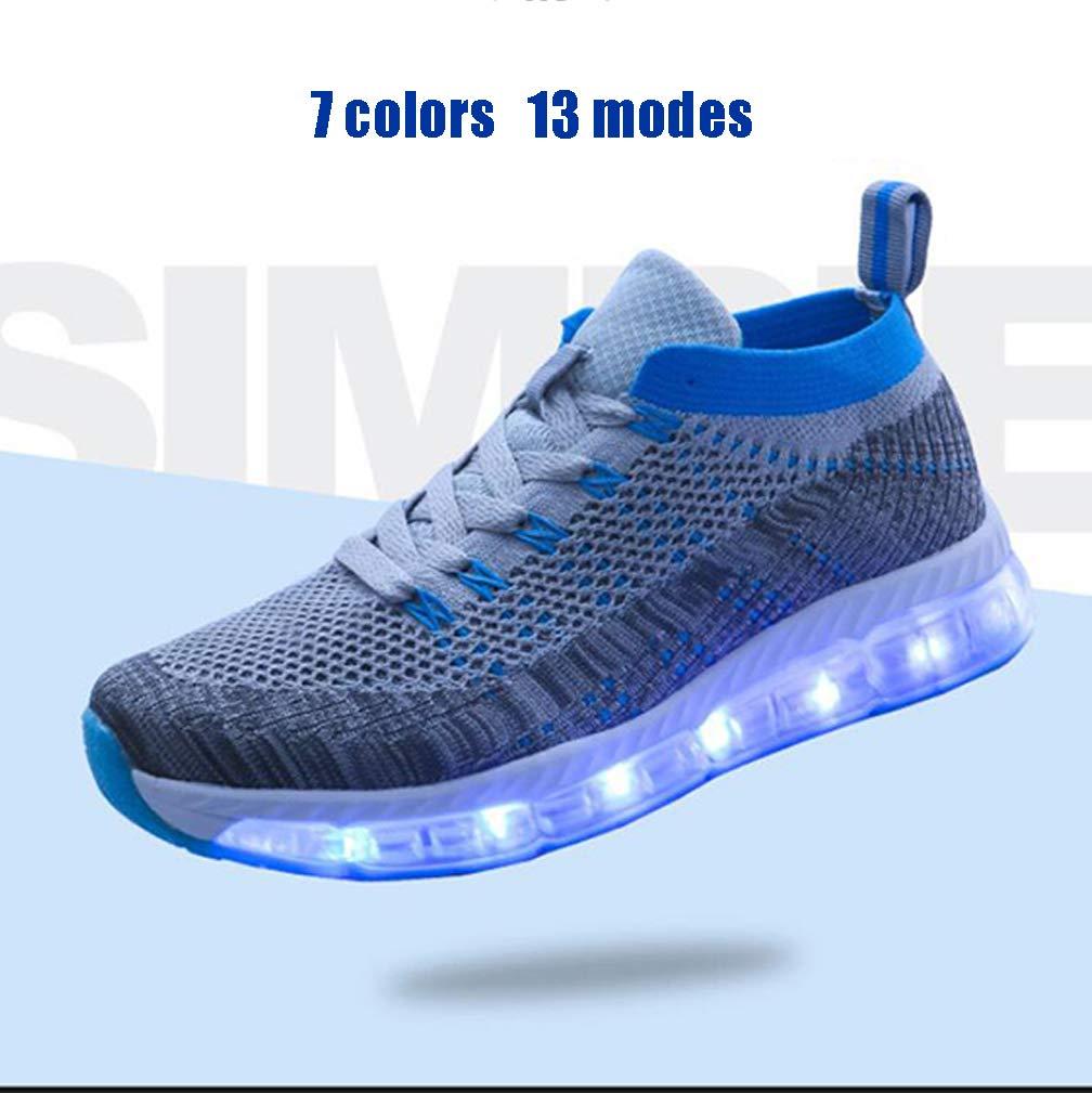 quality design c5300 f69ea DECJ Herrenschuhe Bunte Gelee Boden LED-Leuchten Schuhe USB-Schuhe   Amazon.de  Sport   Freizeit