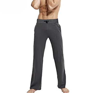 Jeff Tribble Mens Sleeping Trousers Cotton Pajamas Pants Casual Homewear Lounge Pants 5XL 6XL Drawstring Sleep