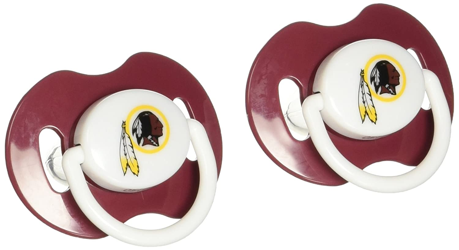 Amazon.com: NFL Washington Redskins 2 Pack Chupete: Sports ...